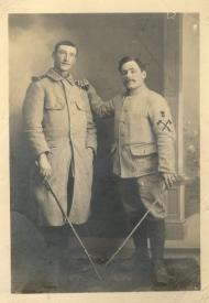 Marcelin Cailleau (à droite) et son beau-frère M. Rahé.