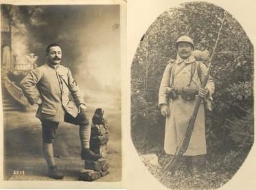 Marcelin Cailleau en uniforme.